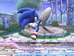 Ataque fuerte superior Sonic SSBB