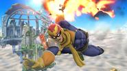 Captain Falcon usando Salto depredador en el aire SSB4 (Wii U)