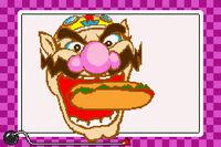 Wario usando dentellada en WarioWare Inc Minigame Mania