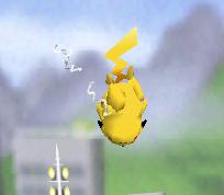 Ataque aéreo hacia abajo de Pikachu SSB