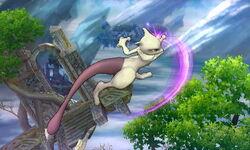 Ataque aéreo hacia adelante Mewtwo SSB4 (3DS)