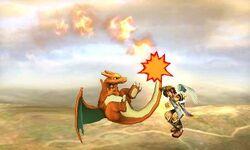 Ataque aereo normal de Charizard SSB4 (3DS)