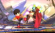 Karateka Mii usando Patadas relámpago SSB4 (3DS) (2)