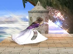 Ataque Smash lateral Zelda SSBB