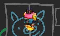 Ataque aéreo hacia abajo de Wario (1) SSB4 (3DS)