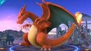 Charizard en el Campo de Batalla SSB4 (Wii U)