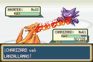 Lanzallamas en Pokémon Rojo Fuego