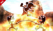 Mr. Game & Watch usado su Movimiento especial hacia arriba SSB4 (3DS)
