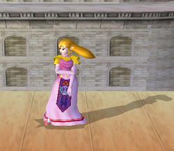 Pose de espera de Zelda (2-2) SSBM
