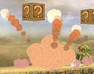 Toon Link lanzando una bomba SSBB