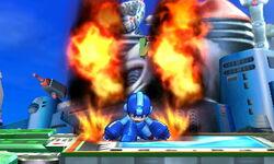 Ataque Smash hacia abajo de Mega Man (2) SSB4 (3DS)