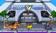 Charizard, Pikachu y Greninja en la Torre Prisma SSB4 (3DS)