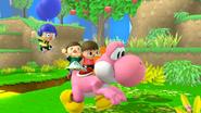 Créditos Modo Senda del guerrero Yoshi SSB4 (Wii U)
