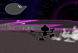 Lanzamiento hacia atrás Mr. Game & Watch SSBM