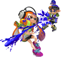 Artwork de los inklings en Splatoon