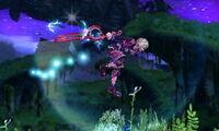 Ataque aéreo hacia adelante Shulk SSB4 (3DS)