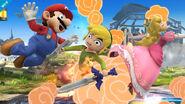 Efecto explosivo de las Bombas de Toon Link SSB4 (Wii U)