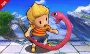 Lucas junto a la Cuerda Serpiente SSB4 (3DS)