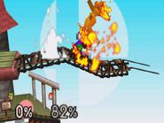Luigi usando Súper salto puñetazo SSB