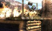Puente de Valle Gerudo destruido SSB4 (3DS)
