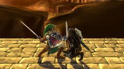 Agarre normal de Link (2) SSB4 (Wii U)
