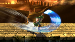 Ataque Smash lateral de Link (2) SSB4 (Wii U)