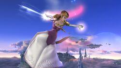 Ataque aéreo normal Zelda SSB4 Wii U
