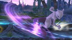 Ataque fuerte lateral Mewtwo (arriba) SSB4 (Wii U)