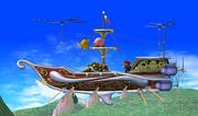 Barco volador de Rainbow Ride en SSBM