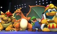 Charizard, Luigi, Rey Dedede y Bowser en el Ring de Boxeo SSB4 (Wii U)