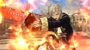 Daraen mujer usando Arcfire en el Coliseo SSB4 (Wii U)