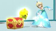 Estela junto a un Cofre SSB4 (Wii U)