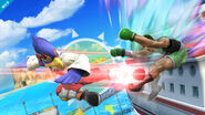 Falco golpeando a Little Mac SSB4 (Wii U)