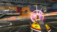 Link, Fox y Captain Falcon en Port Town Aero Dive SSB4 (Wii U)