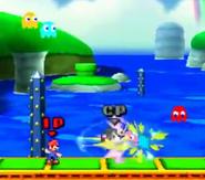 Mario y Marth siendo atacado por los fantasmas SSB3DS