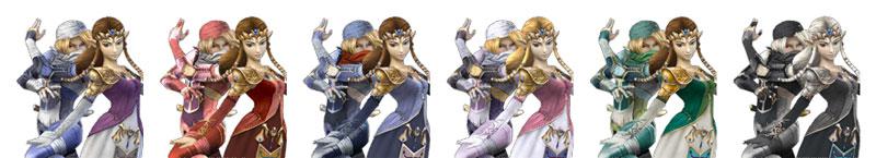 Paleta de colores de Zelda&Sheik SSBB