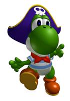 Pegatina de Yoshi de Mario Party SSBB
