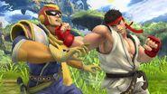 Ryu atacando a Captain Falcon SSB4 (Wii U)