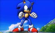 Sonic el el campo de Batalla SSB4 (3DS)