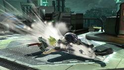 Ataque fuerte hacia abajo Cloud SSB4 (Wii U)