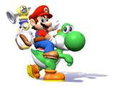 Pegatina Mario y Yoshi SSBB