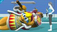 Rey Dedede en la Zona de entrenamiento SSB4 (Wii U)