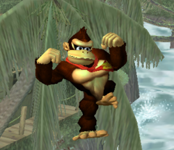 Ataque aéreo hacia abajo de Donkey Kong SSBM
