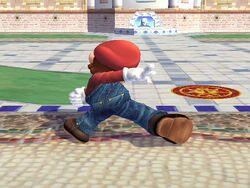 Ataque fuerte lateral hacia abajo Mario SSBB