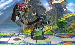 Lanzamiento hacia adelante Lucina SSB4 (3DS)