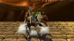 Lanzamiento inferior de Link (1) SSB4 (Wii U)