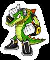 Pegatina Vector the Crocodile SSBB