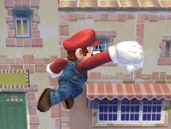 Ataque aéreo hacia adelante (2) Mario SSBB