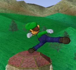 Ataque fuerte lateral de Luigi SSBM