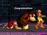 Créditos Modo Aventura Donkey Kong SSBM